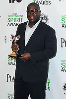 SANTA MONICA, CA, USA - MARCH 01: Steve McQueen in the press room during the 2014 Film Independent Spirit Awards held at Santa Monica Beach on March 1, 2014 in Santa Monica, California, United States. (Photo by Xavier Collin/Celebrity Monitor)