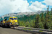 Alaska railroad train, Denali, Alaska