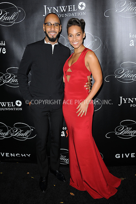 WWW.ACEPIXS.COM <br /> November 7, 2013 New York City<br /> <br /> Swizz Beatz and Alicia Keys attends Keep A Child Alive's 10th Annual Black Ball at Hammerstein Ballroom on November 7, 2013 in New York City.<br /> <br /> Please byline: Kristin Callahan  <br /> <br /> ACEPIXS.COM<br /> Ace Pictures, Inc<br /> tel: (212) 243 8787 or (646) 769 0430<br /> e-mail: info@acepixs.com<br /> web: http://www.acepixs.com