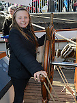 Abaigail Richardson pictured aboard the tallships. Photo:Colin Bell/pressphotos.ie