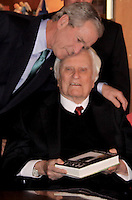 George W. Bush With Billy Graham At Library North Carolina Book Signing By Jonathan Green