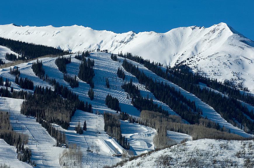 Snowmass Village and ski area near Aspen, Colorado. © Michael Brands. 970-379-1885.