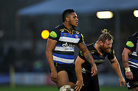 Levi Douglas of Bath Rugby looks on. Aviva Premiership match, between Bath Rugby and Worcester Warriors on December 27, 2015 at the Recreation Ground in Bath, England. Photo by: Patrick Khachfe / Onside Images