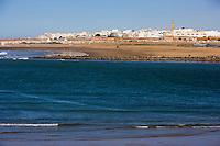 Afrique/Afrique du Nord/Maroc/Rabat: l'Oued Bou Regreg et la ville de Salè [vus depuis la terrasse du café maure situé dans le jardin des Oudaïa]