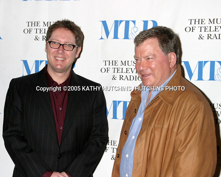 JAMES SPADER.WILLIAM SHATNER.BOSTON LEGAL .MUSEUM OF TV AND RADIO PALEY FESTIVAL.MARCH 15, 2005.©2005 KATHY HUTCHINS /HUTCHINS PHOTO...