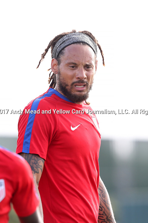 11 January 2017: Jermaine Jones. The United States Men's National Team held their first training session under new head coach Bruce Arena on The Murphy Family Field at the StubHub Center in Carson, California.