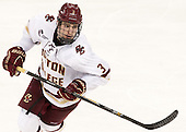 Ian McCoshen (BC - 3) - The Boston College Eagles defeated the visiting Merrimack College Warriors 2-1 on Wednesday, January 21, 2015, at Kelley Rink in Conte Forum in Chestnut Hill, Massachusetts.