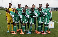 U17 : Belgian Red Flames - Nigeria <br /> <br /> Team van Nigeria<br /> <br /> foto Dirk Vuylsteke / Nikonpro.be