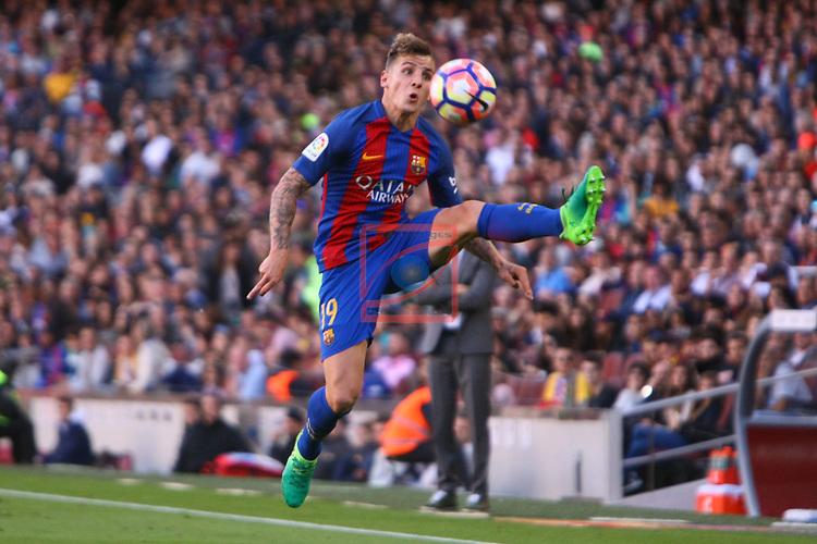 League Santander 2016/2017. Game: 36.<br /> FC Barcelona vs Villarreal CF: 4-1.<br /> Lucas  Digne.