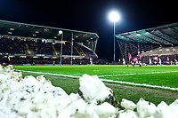 Picture by Alex Whitehead/SWpix.com - 08/03/2018 - Rugby League - Betfred Super League - Leeds Rhinos v Hull FC - Emerald Headingley Stadium, Leeds, England - A General View (GV), snow.