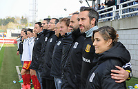20170408 - EUPEN ,  BELGIUM : Spanish technical staff  pictured during the female soccer game between the Belgian Red Flames and Spain , a friendly game before the European Championship in The Netherlands 2017  , Saturday 8 th April 2017 at Stadion Kehrweg  in Eupen , Belgium. PHOTO SPORTPIX.BE | DIRK VUYLSTEKE