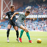 21.07.2019: Rangers v Blackburn Rovers: James Tavernier and Stewart Downing