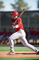 Los Angeles Angels of Anaheim Brennan Morgan (10) during an Instructional League game against the Colorado Rockies on October 6, 2016 at the Tempe Diablo Stadium Complex in Tempe, Arizona.  (Mike Janes/Four Seam Images)