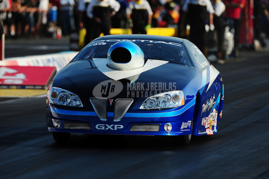 Sept. 2, 2011; Claremont, IN, USA: NHRA pro stock driver Paul Pittman during qualifying for the US Nationals at Lucas Oil Raceway. Mandatory Credit: Mark J. Rebilas-