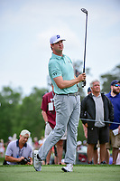 Hudson Swafford (USA) watches his tee shot on 3 during round 3 of the Shell Houston Open, Golf Club of Houston, Houston, Texas, USA. 4/1/2017.<br /> Picture: Golffile | Ken Murray<br /> <br /> <br /> All photo usage must carry mandatory copyright credit (&copy; Golffile | Ken Murray)