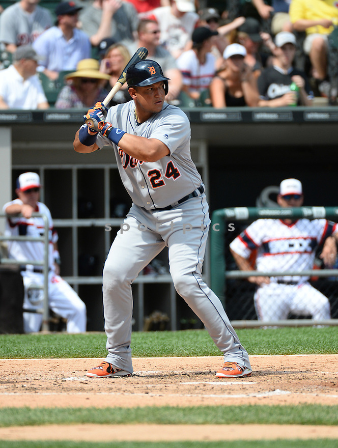 Detroit Tigers Miguel Cabrera (24) during a game against the Chicago White Sox on July 24, 2016 at US Cellular Field in Chicago, IL. The White Sox beat the Tigers 5-4.
