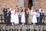Children from Curraheen and Glenbeigh National schools pictured after they received their first Holy Communion in Glenbeigh church on Saturday.
