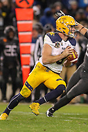 Baltimore, MD - December 10, 2016: Navy Midshipmen quarterback Zach Abey (9) attempts a pass during game between Army and Navy at  M&T Bank Stadium in Baltimore, MD.   (Photo by Elliott Brown/Media Images International)