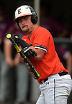 Edwardsville's Jacob Kitchen throws his bat towards the dugout after he was struck by a pitch late in the game. Edwardsville defeated Belleville West in a semifinal of the Class 4A Bloomington boys baseball sectional which was played in O'Fallon, IL on Wednesday May 29, 2019.<br />
