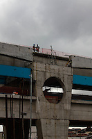 SAO PAULO, SP, 18 JULHO 2012 - VISTORIA OBRAS DO METRO E MONOTRILHO - Vistoria de inspeção as obras da futura Estacao e Patio Oratorio da Linha 2- Verde, Monotrilho, do Metro na regiao sudeste da capital paulista. FOTO: VANESSA CARVALHO - BRAZIL PHOTO PRESS.