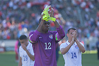 Carson, CA - Sunday, February 8, 2015 Goalkeeper Sean Johnson (12) of the USMNT. The USMNT defeated Panama 2-0 during an international friendly at the StubHub Center
