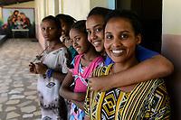 ETHIOPIA , Dire Dawa , catholic church, orphanage for girls/ AETHIOPIEN, Dire Dawa, katholische Kirche, Waisenheim der Kapuziner  fuer Maedchen und Aids Waisen