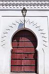 Wooden door of the Koutoubia mosque in Marrakech.