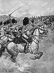 the Scottish 93rd Highland Regiment, Battle of Balaclava, 25 October 1854, Crimean War, 1853 - 1856,