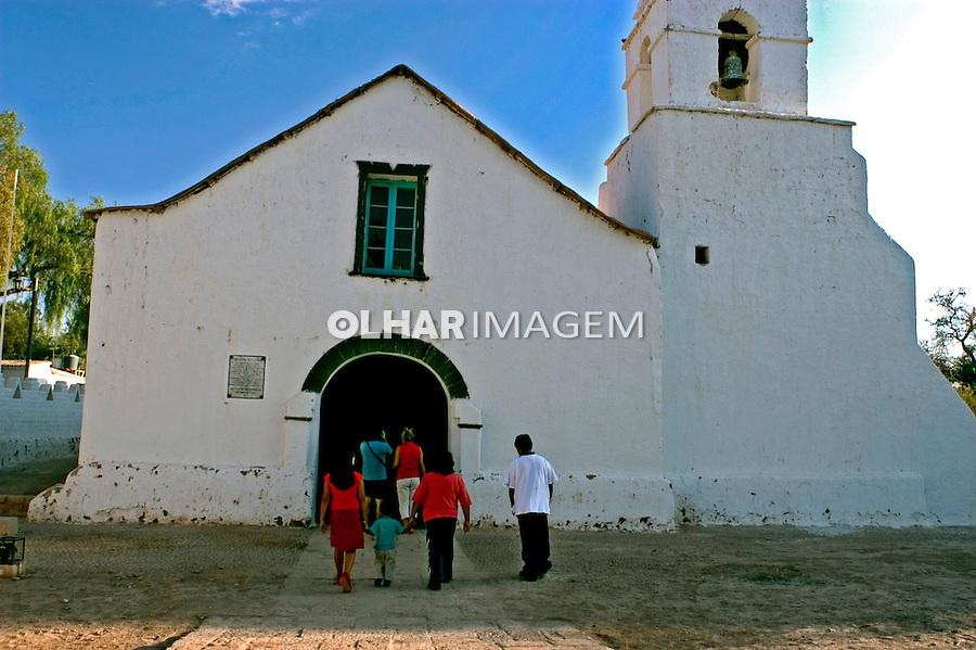 Igreja em San Pedro no Deserto do Atacama. Chile. 2004. Foto de Maristela Colucci.
