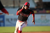 Batavia Muckdogs third baseman Jon Rodriguez during a game vs. the State College Spikes at Dwyer Stadium in Batavia, New York August 29, 2010.   Batavia defeated State College 6-4.  Photo By Mike Janes/Four Seam Images