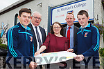 Two St. Michael's College Agricultural Science students Padraig Hunt and Mikey Murphy have reached the national final of the 'Irish Farmer's Journal Safe Family Farm Competition'. Pictured l-r were: Padraig Hunt, Johnny Mulvihill (Principal), Fiona Griffin (Teacher), Liam Hassett (Deputy Principal) and Mikey Murphy.