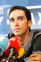Alberto Contador in press conference during the second day of rest of La Vuelta 2012.September 4,2012. (ALTERPHOTOS/Acero) /NortePhoto.com<br /> <br /> **CREDITO*OBLIGATORIO** <br /> *No*Venta*A*Terceros*<br /> *No*Sale*So*third*<br /> *** No*Se*Permite*Hacer*Archivo**<br /> *No*Sale*So*third*