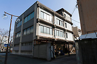 The entrance to Ando Cloisonne, Nagoya, Aichi Prefecture, Japan, February 26, 2018. Family-owned and run Ando Cloisonne was founded in the 1880s and is the only large manufacturer of cloisonne metalware left in Japan. The cloisonne enamelling process is technologically complex and a single work may feature over 50 colours.
