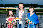 Enjoying the Ballydonoghue Night at the Dogs at the Kingdom Greyhound Stadium on Saturday were Lucy Ahern, Aine Sheehy and Jack Nolan