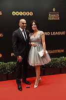 20190116 – PUURS ,  BELGIUM : Roberto Martinez (L) pictured during the  65nd men edition of the Golden Shoe award ceremony and 3th Women's edition, Wednesday 16 January 2019, in Puurs Studio 100 Pop Up Studio. The Golden Shoe (Gouden Schoen / Soulier d'Or) is an award for the best soccer player of the Belgian Jupiler Pro League championship during the year 2018. The female edition is the thirth one in Belgium.  PHOTO DIRK VUYLSTEKE | Sportpix.be