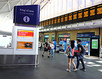 Rail passengers are facing nightmare journeys across this weekend with London's Kings Cross station is shut and severe disruption expected across the network.<br /> King's Cross is one of the capital's busiest train stations and is closed on Saturday and Sunday due to major engineering works on the East Coast Main Line over Bank Holiday. August 24th 2019<br /> <br /> Photo by Keith Mayhew