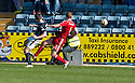Dundee's Stephen McGinn scores their equalising goal.