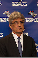 SAO PAULO, SP, 04 DE JUNHO 2012 – INAUGURACAO DE PREDIO - O Secretario Estadual de Transporte, Julio Semeguini, durante a entrega nesta segunda-feira, 4, o Edifício Cidade IV, localizado na Rua Boa Vista,  centro da capital. O novo predio abrgara varias secretarias do governo estadual, alem do comite estadual da Copa do mundo.     (FOTO: RICARDO LOU / BRAZIL PHOTO PRESS).
