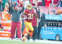 Washington Redskins running back Matt Jones (31) has a long run to put away the game against the Philadelphia Eagles at FedEx Field in Landover, Maryland on Sunday, October 16, 2016. The Redskins won the game 27 - 20.<br /> Credit: Ron Sachs / CNP /MediaPunch