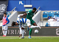 11th July 2020; The Kiyan Prince Foundation Stadium, London, England; English Championship Football, Queen Park Rangers versus Sheffield Wednesday; Dominic Iorfa of Sheffield Wednesday grapples with Eberechi Eze of Queens Park Rangers for the ball