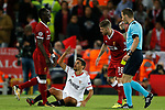 Jesus Navas of Sevilla complains after he was brought down during the Champions League Group E match at the Anfield Stadium, Liverpool. Picture date 13th September 2017. Picture credit should read: Simon Bellis/Sportimage