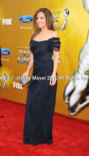 LOS ANGELES, CA. - February 26: Maria Canals-Barrera arrives at the 41st NAACP Image Awards at The Shrine Auditorium on February 26, 2010 in Los Angeles, California.