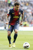 FC Barcelona's Daniel Alves during La Liga match.March 02,2013. (ALTERPHOTOS/Acero) /NortePhoto