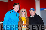 Cindy O'Connor and Weeshie Fogarty who officially started Nathan's walk Darkness into Light walk in aid of Pieta House in Killarney racecourse on Saturday with Jim Morris