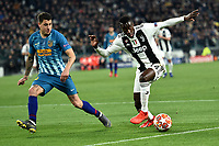 Santiago Arias of Atletico Madrid and Blaise Matuidi of Juventus compete for the ball during the Uefa Champions League 2018/2019 round of 16 second leg football match between Juventus and Atletico Madrid at Juventus stadium, Turin, March, 12, 2019 <br />  Foto Andrea Staccioli / Insidefoto