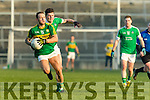 Barry John Keane Kerry in action against Iain Corbett Limerick in the Final of the McGrath Cup at the Gaelic Grounds on Sunday.