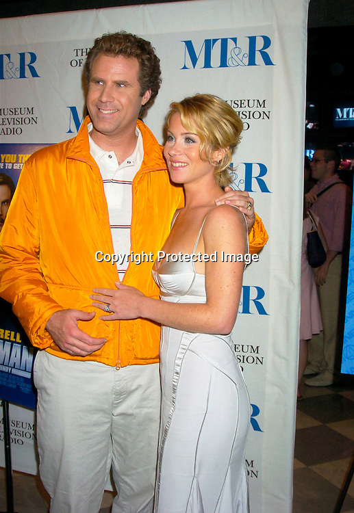 "Will Ferrell and Christina Applegate ..at a special screening of ""Anchorman The Legend of Ron Burgundy on July 7, 2004 at The Musuem of TV and Radio..in New York City. Photo by Robin Platzer, Twin Images"