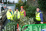 Peter Moynihan, Simon Carmody, Ger and TJ Brosnan mulching Christmas trees in Killarney on Wednesday morning