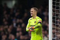 West Ham United's Joe Hart reacts <br /> <br /> Photographer Craig Mercer/CameraSport<br /> <br /> The Premier League - Chelsea v West Ham United - Sunday 8th April 2018 - Stamford Bridge - London<br /> <br /> World Copyright &copy; 2018 CameraSport. All rights reserved. 43 Linden Ave. Countesthorpe. Leicester. England. LE8 5PG - Tel: +44 (0) 116 277 4147 - admin@camerasport.com - www.camerasport.com