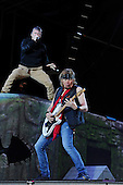IRON MAIDEN - Adrian Smith and Bruce Dickinson - performing live on Day Three on the Lemmy Stage at the Download Festival at Donington Park UK - 12 Jun 2016.  Photo credit: Zaine Lewis/IconicPix